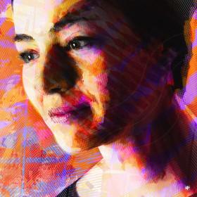 Peinture numerique, portrait, art figuratif