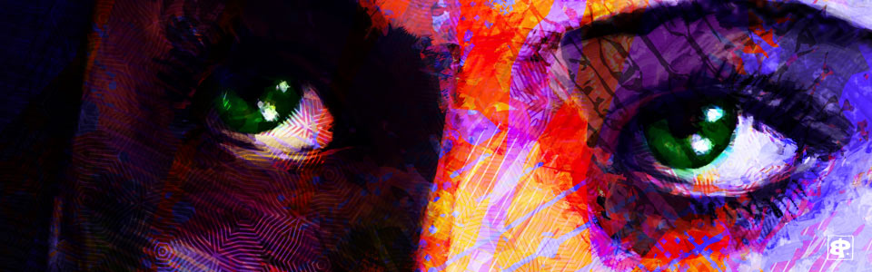 Peinture digitale, portrait, art figuratif