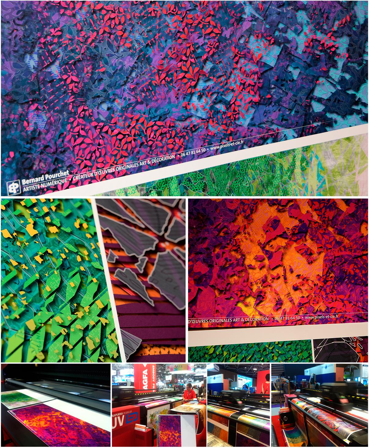Tirages réalisés par AGFA lors du salon C'Print