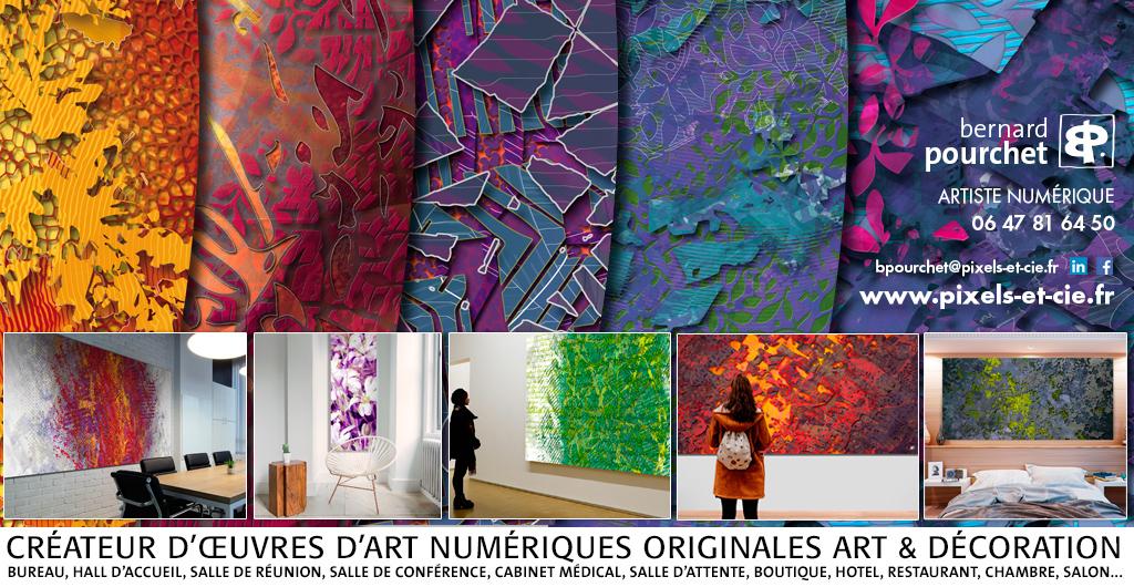 Digital artist contemporary art creations numériques originales imprimées en séries limitées sur mesure