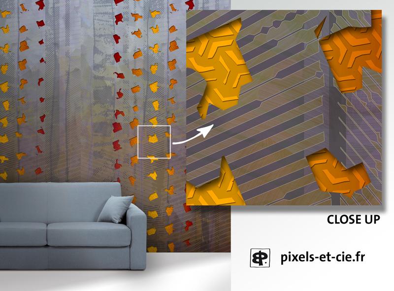 Création numérique impression sur papier, tissu, dibond, stratifié