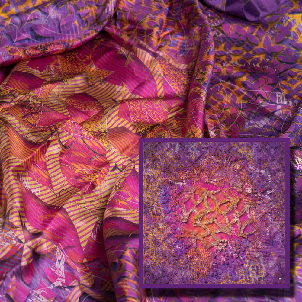 art digital; creation numerique imprimee; art numérique; creation originale; foulards; carrés de soie; silk; lixe; mode; design textile