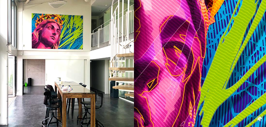 Creation d'œuvre d'art sur commande œuvre personnalisée pour entreprise, la décoration d'espaces publics   ou privés et collectivités - Peretti