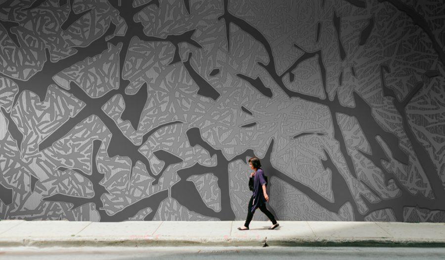 Art contemporain creation numérique originale - motifs panoramiques