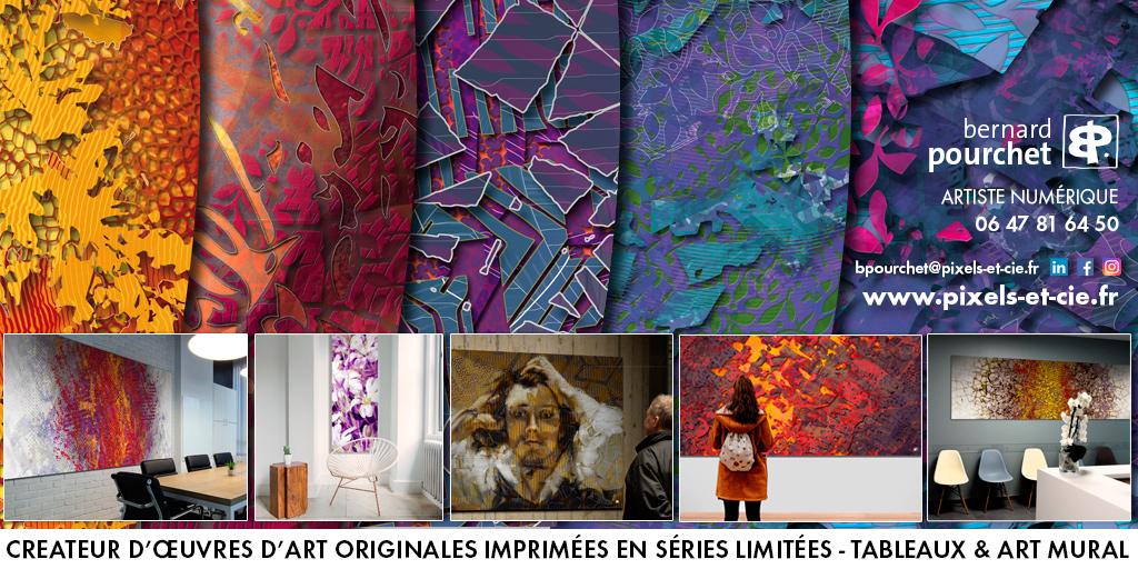 Art contemporain creation numérique originale, art et décoration, création sur mesure personnalisée, bureau, entreprise, collectivité