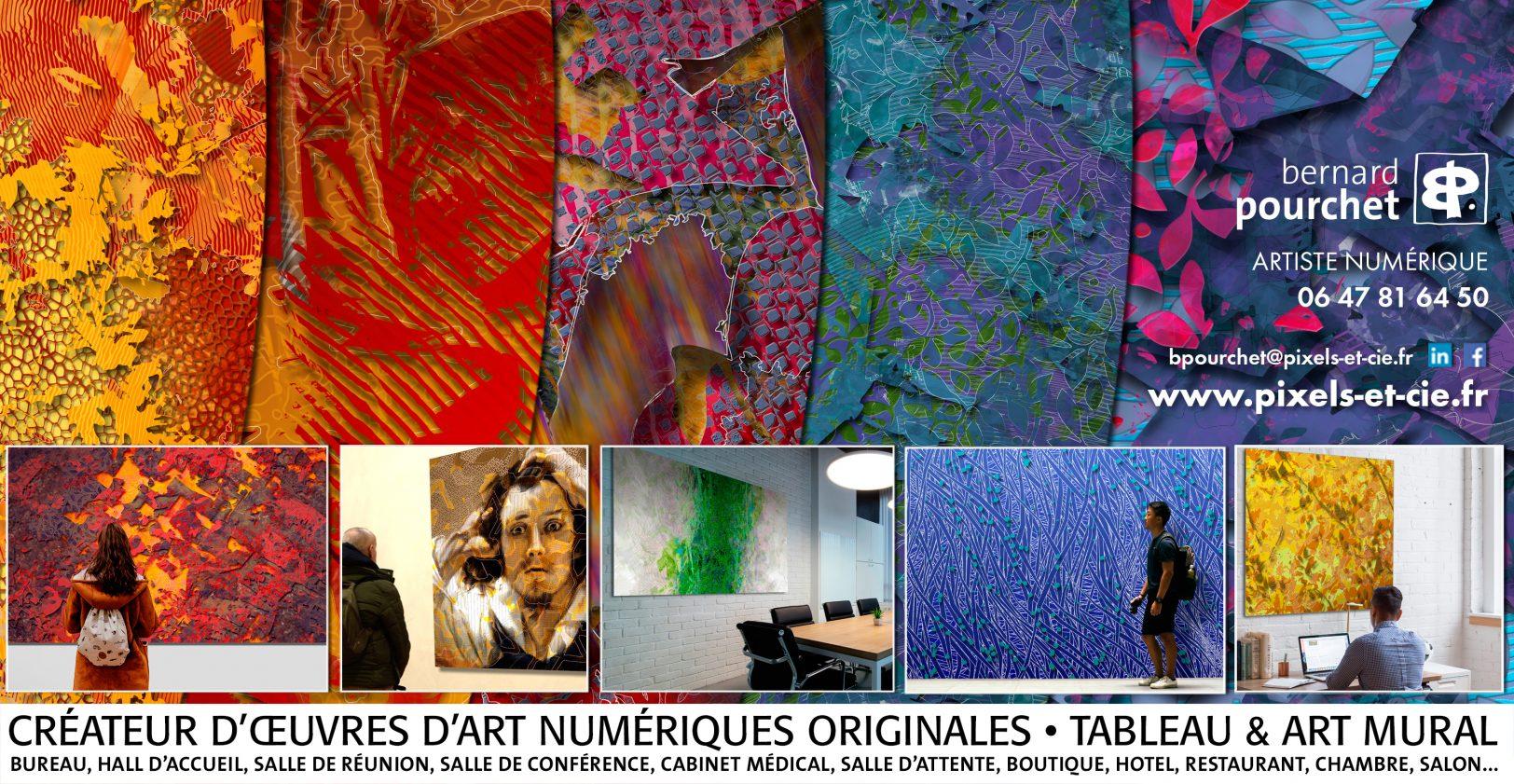 Art contemporain creation numérique originale, tableau en series limitées, décoration murale grands formats