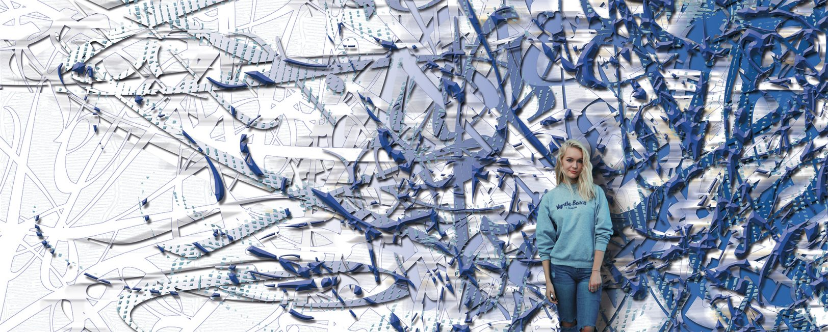 Décor mural art numérique