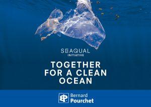 Artiste numérique créateur d'œuvres imprimées, œuvres sur support fabriqué à partir de plastique marin recyclé SEAQUAL YARN